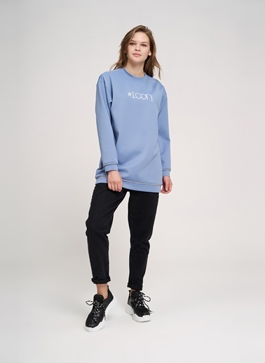 Mizalle Youth Sweatshirt Mavi